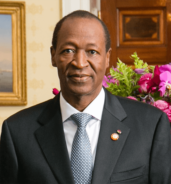 Picture of former Burkina Faso President Blaise Compaore